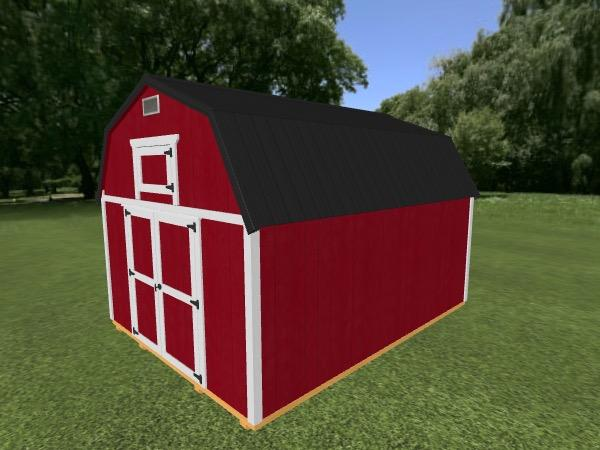 Lofted Barn: 12' x 16'