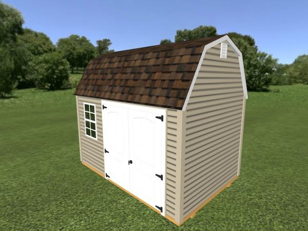 Lofted Garden Shed: 8' x 12'