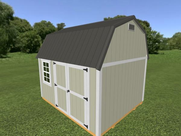 Lofted Garden Shed: 10' x 12'