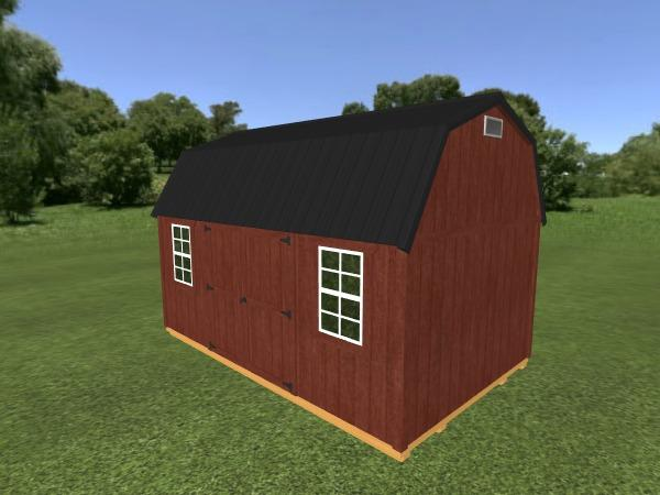 Lofted Garden Shed: 10' x 16'