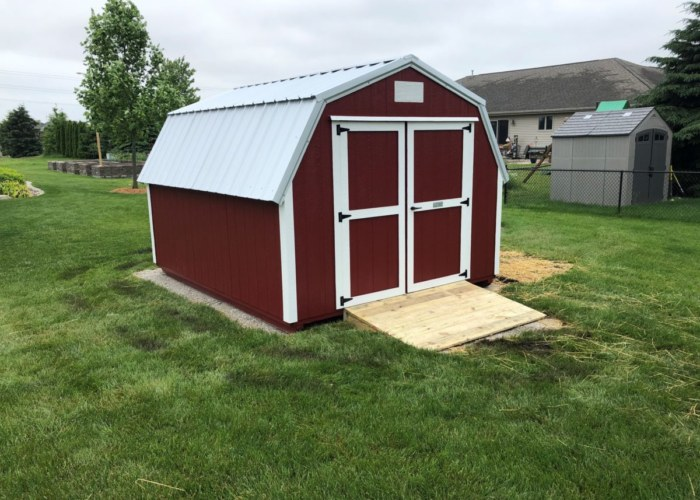 Barn Red and White Paint & Galvalume Metal