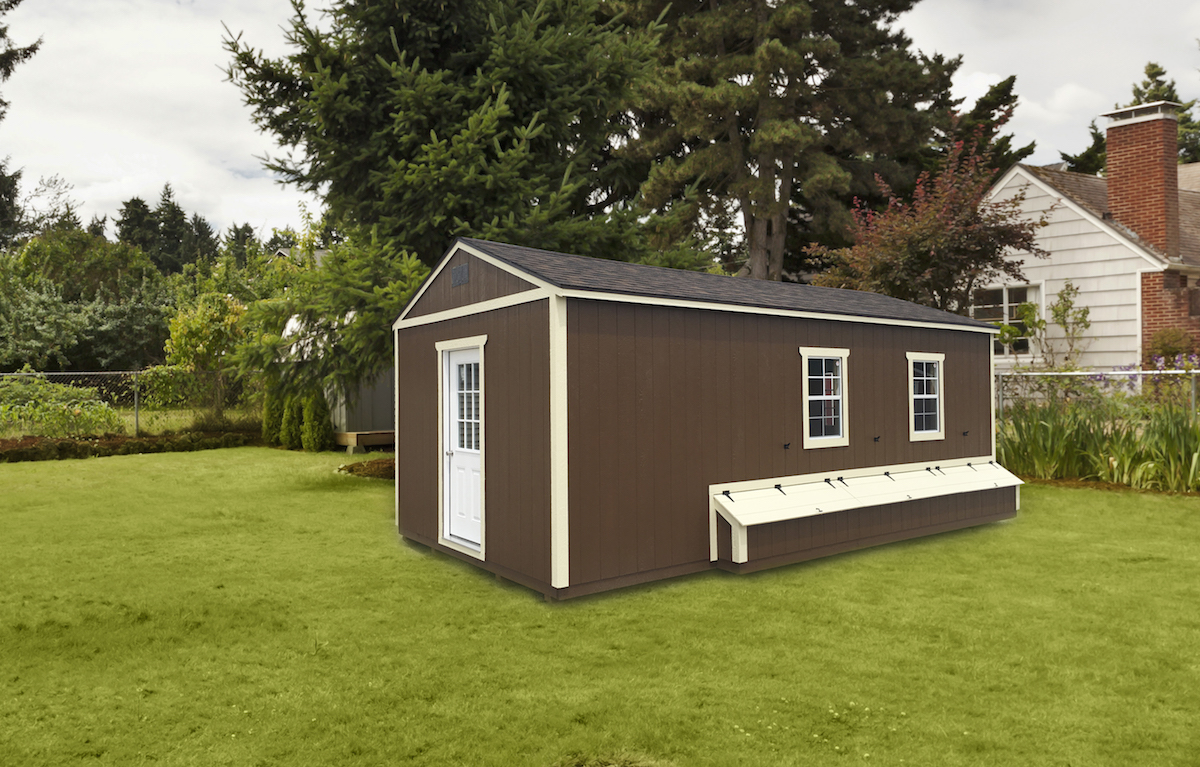 Portable building with nesting boxes, Portable Buildings, Countryside Barns, Portable Building Manufacturer