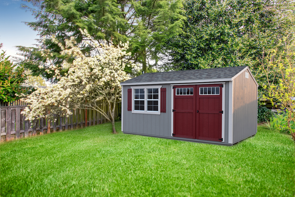 Taupe, Beige, and Barn Red Paint & Driftwood Shingles