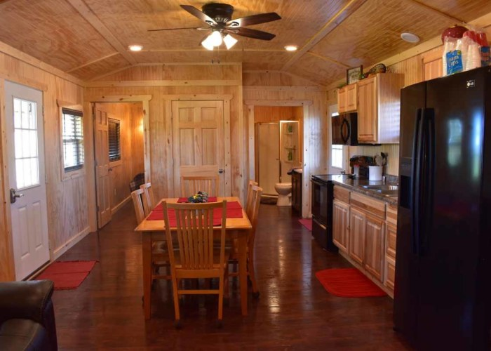 Vacation Cabin - Beadboard Paneling & Trim, Rustic Oak Flooring, Plumbing, and Electrical