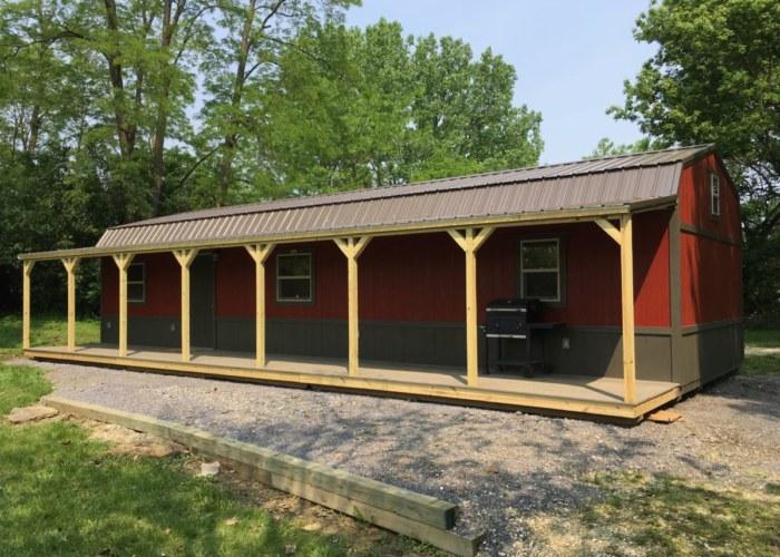 Lofted Side Porch Cabin