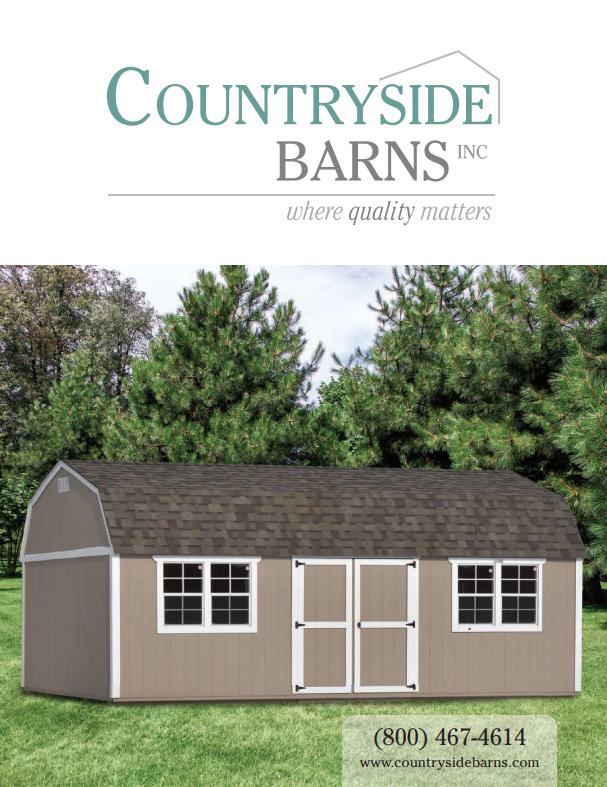 Countryside Barns Portable Storage Shed Catalog