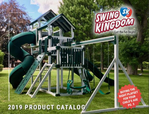 Vinyl Play Set Swing Set Swing Kingdom