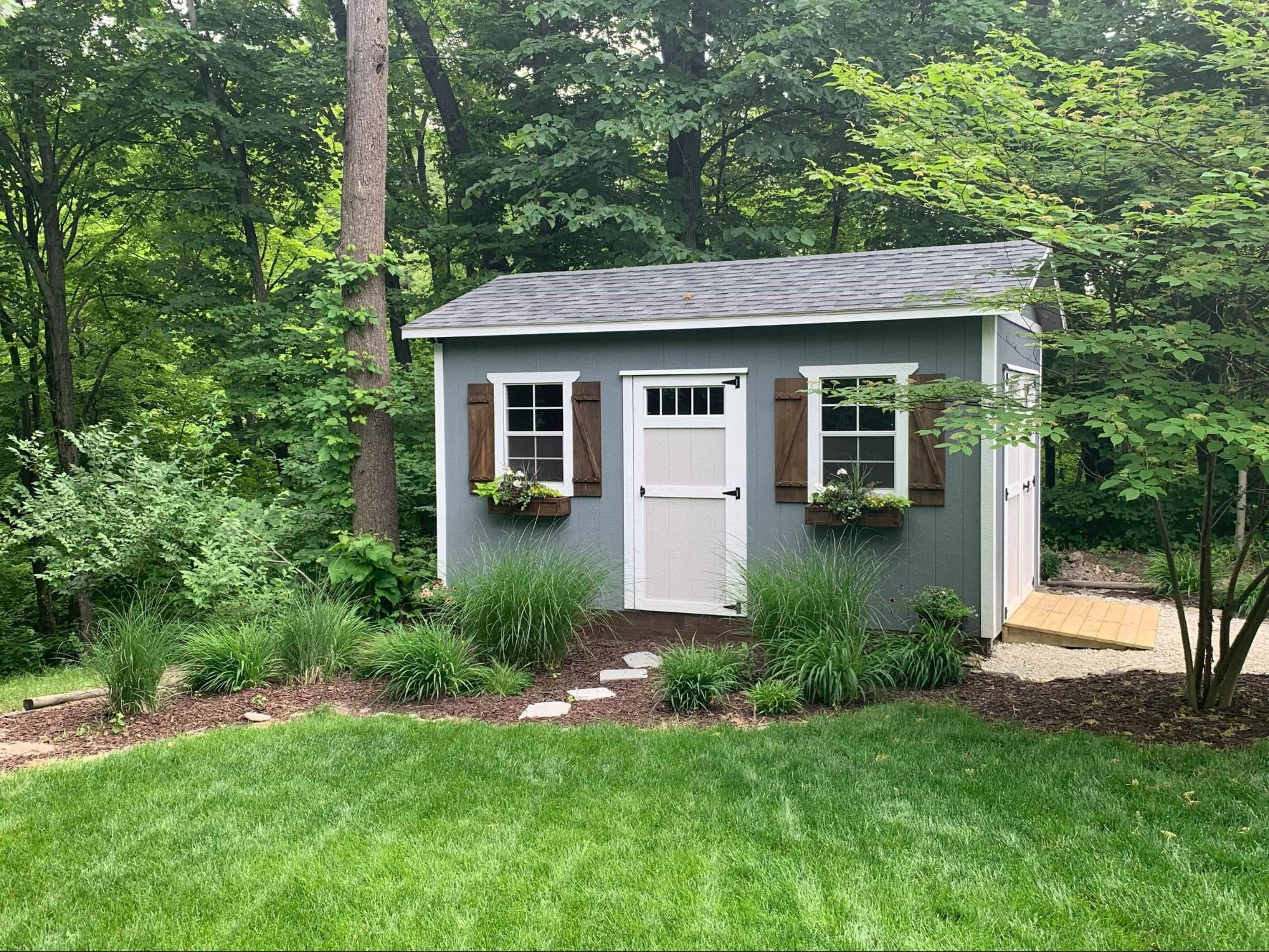6 Creative She Shed Landscaping Ideas  Countryside Barns