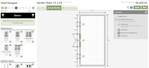 backyard shed designs - doors