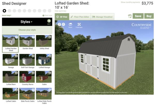 backyard shed designs - shed designer