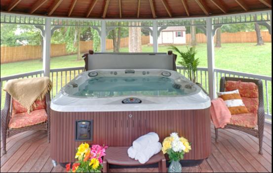 outdoor buildings - hot tub gazebo