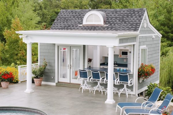 pool shed with bar